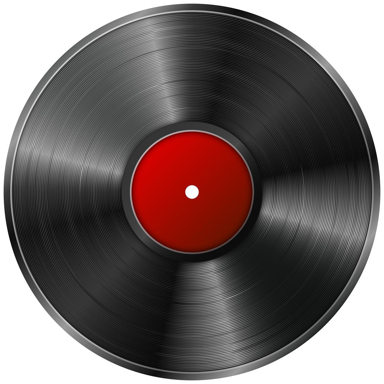 vinyl record with red center