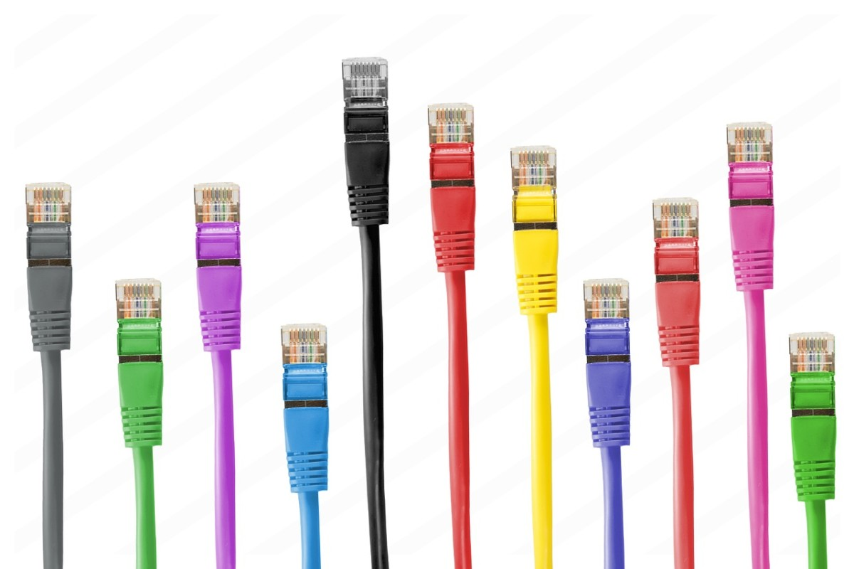 multi coloured network cables