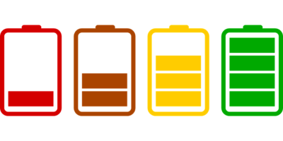 Batteries in various sates of charge